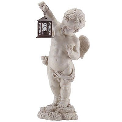 Cherub Statue and Lantern