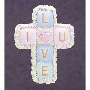 I Love U Quilt Cross