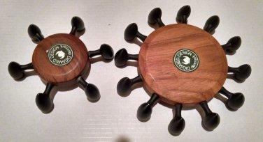 European Candlestick Digsmed Design Denmark wood cast iron holder RARE