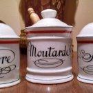 3-Sel+Poive+Moutarde: d'Auteuil France Bistrot Jacques Lobjoy Paris vintage