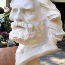 "LARGE Lifesize Plaster head Sculpture 24""x 12"" Greek God Bible Long hair beard"