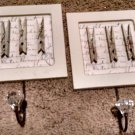 Wall HOOKS TWO crystal knobsWooden Plaque (Rustic Decor, Primitive Look) Handy!