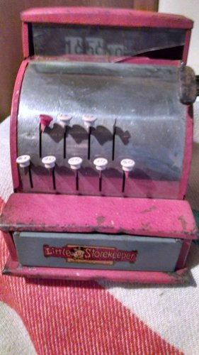 VINTAGE Tom Thumb LITTLE STOREKEEPER Metal Cash Register by Western Stamping Co.
