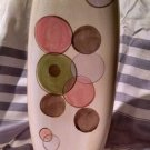 "Tabletops Gallery- Hand Painted -Mosaic Dots -VASE 10"" hand crafted -collector"