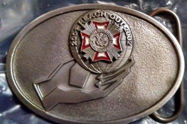 "Vererans Foreign War 2001-2002 Reach Out Limited Edition Belt Buckle 3x2"" Indiv#"