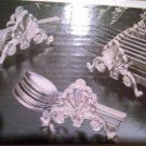 Vintage Entertaining 3-pc SILVER PLATED BUFFET CADDIES in Original Box, NIB