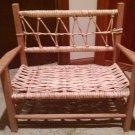 Small Decorative Wicker Bench porch Doll child pet 21w x10dx18 h