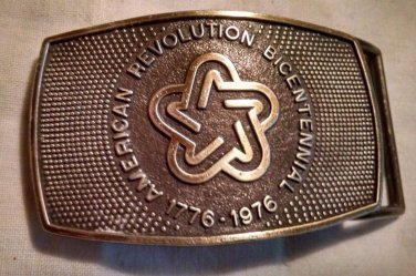 Lee Co NY American Revolution Bicentennial 1776-1976 Vintage Belt Buckle 4x2