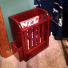 Vintage Wooden Magazine Rack Storage Shelf Portable Hanging