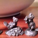 LOT 4-Vintage Hallmark Collectible Fine Pewter Figurine by Little Gallery animal