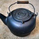 Ripleys Cast Iron Bird Spout Teapot Kettle,Pat.7/14/1868 W/Swing Lid wood handle