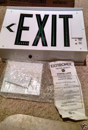 Exitronix - LED Exit Sign - Black Steel - 602-WB-BLOG Single Face