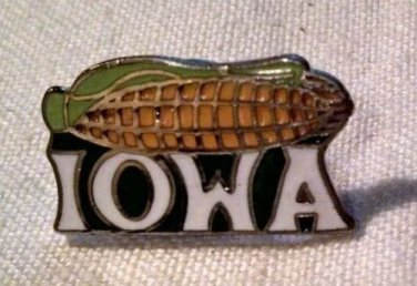 IOWA LAPEL PIN -Corn on the Cob American Heartland Midwest