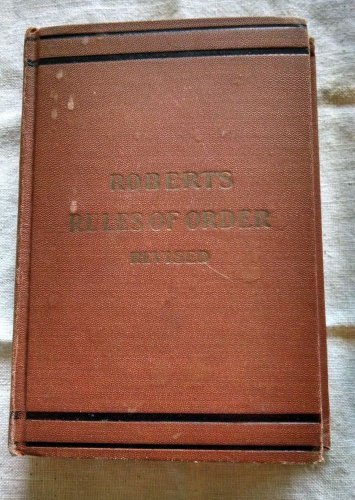 1943 Roberts Rules of Order Small Book 4 x 6 Parliment Law Henry Robert US Army