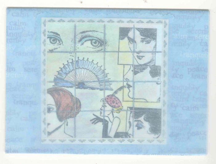 Vintage / Mosaic Style Handmade Greeting Card