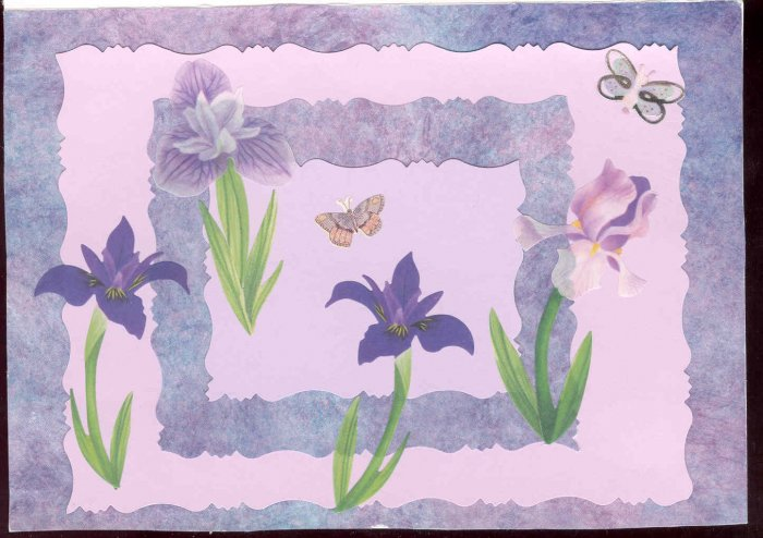 Floral Themed Handmade Greeting Card