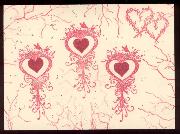 Heart/Love themed Handmade Greeting Card