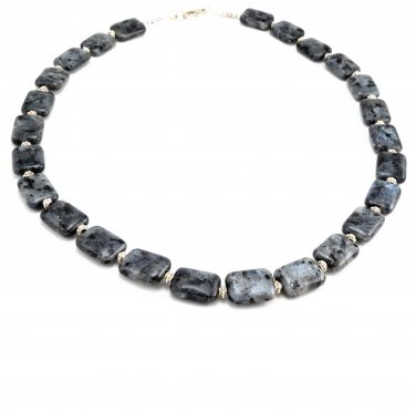Necklace OOAK Black Labradorite Sterling Silver Handmade