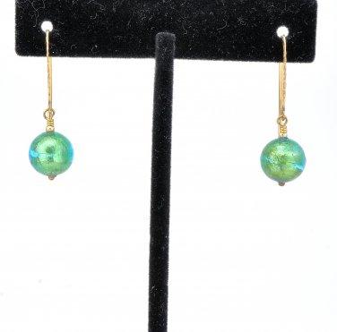 Genuine Murano (Italy) Glass Earrings Gold Filled Handmade