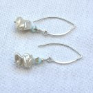 OOAK Earrings Keshi Pearls and Swarovski Crystals Sterling Silver