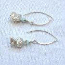 OOAK Earrings Keshi Pearls and Swarovski Crystals Sterling Silver
