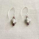 Sterling Silver and Garnet Earrings