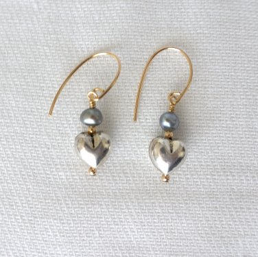 Sterling Silver and Gold Filled Freshwater Pearls Earrings