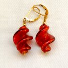 Genuine Murano Glass Gold Filled Leverback Earrings
