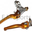 Dirt Pit Bike CNC Brake Clutch Lever Aluminum 125 138 140 150 200cc Parts Gold