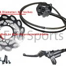 Front Hydraulc Caliper w Disk Parts 125cc 150cc Cable
