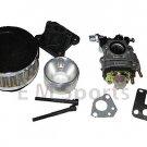 Mini Pocket Bike Parts 33cc 43cc 49cc Air Filter Performance Carburetor Kit