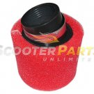 Dirt Pit Bike 110cc 125cc 138cc 42mm RED Air Filter SDG COOLSTER BAJA TAOTAO