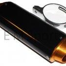 110cc Dirt Pit Bike CNC Black Gold Muffler Exhaust Pipe For Kawasaki KLX110