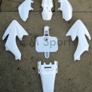 50cc PIT DIRT BIKE WHITE PLASTIC FAIRING PLASTIC SHELL BODY For HONDA CRF50 XR50