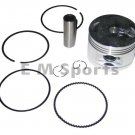 4 Stroke Gy6 Atv Quad Go Kart Engine Motor Piston Kit w Rings Parts 150cc 57.4mm