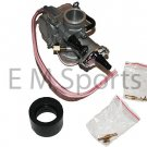 26mm KOSO Carburetor w Jets For 49cc 50cc 2 Stroke Scooter Mopeds 1PE40QMB Motor
