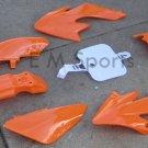Gas Dirt Pit Bike Plastic Fairing Shell 49cc 50cc 70cc TAOTAO SUNL ROKETA Orange