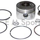 Atv Quad 4 Wheeler Parts Cylinder Engine Motor Piston Kit Rings 125cc 52.4MM