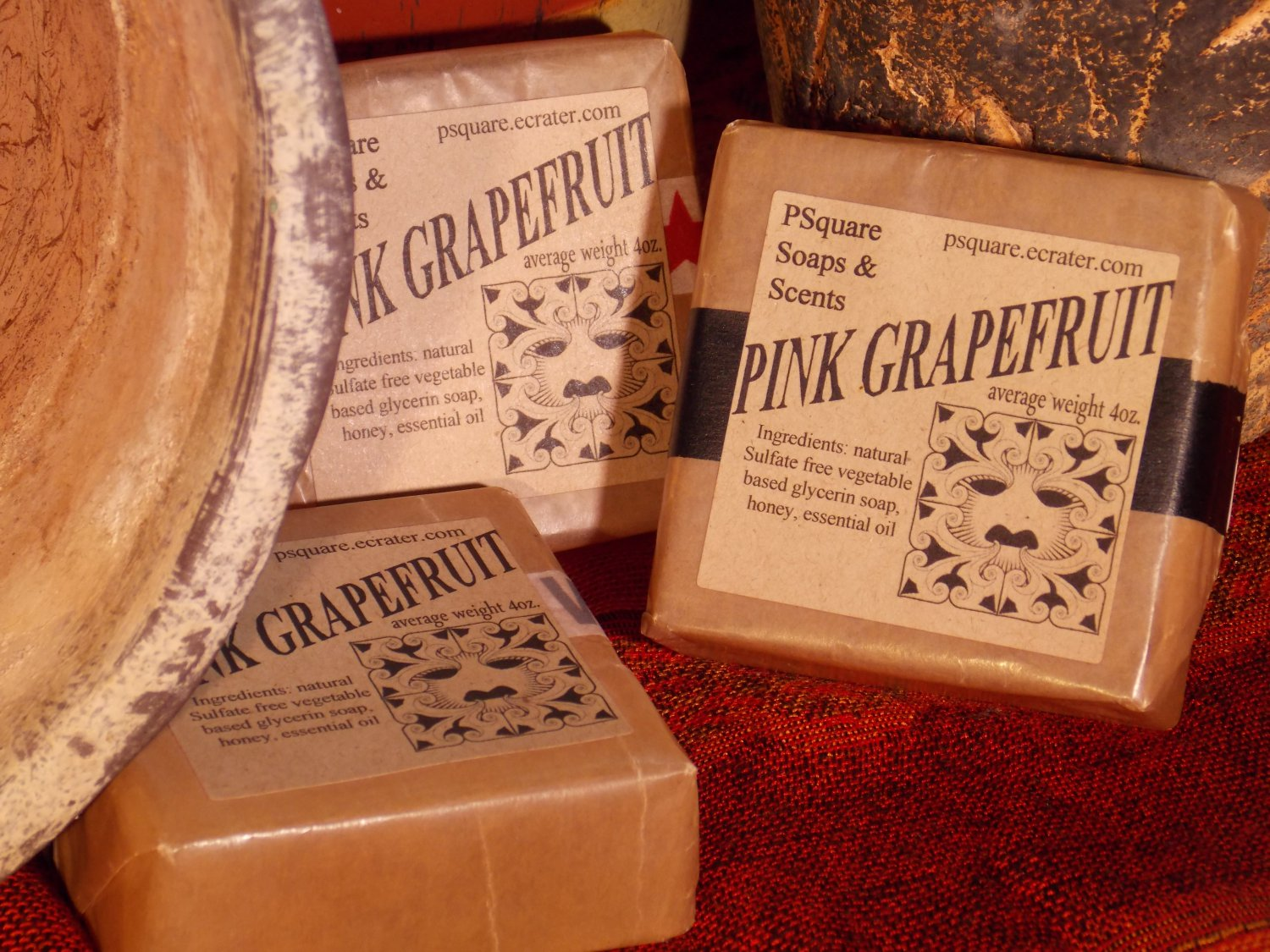 PINK GRAPEFRUIT - Glycerin Soap