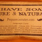 1 - PURE SHAVE Cold Process Soap with Clay and Oats - REFILL