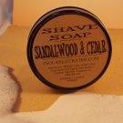 Sandalwood and Cedar SHAVE SOAP & GLASS Shave Jar, Melt and Pour Glycerin Soap, Oatmeal, Kaolin Clay