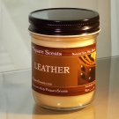MANLY MEN SCENTS - 8oz. Jar Soy Candle, Dirt, Leather, Jean Paul Gaultier, Fire Side, Bay Rum