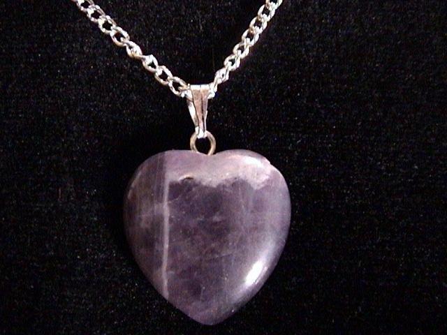 Purple Heart Gemstone Necklace