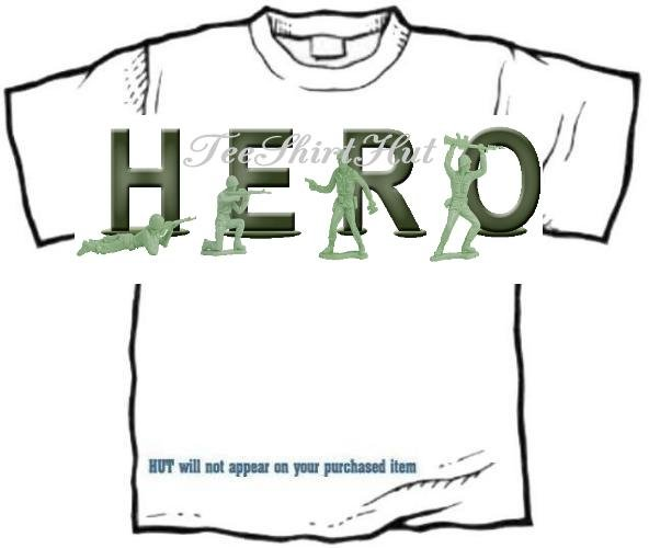 T-Shirt, Your Name in ARMY MEN, hero (Adult 3 xLg)