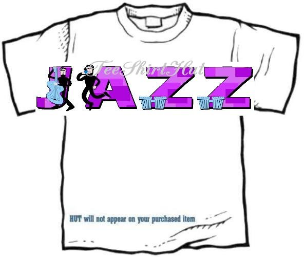 T-shirt, Your Name in BEATNIKS , Jazz, - (youth & Adult Sm - xLg)