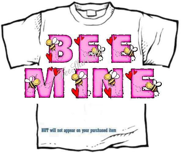 T-shirt, Your Name in BEE's and HEARTS - (Adult 3 xLg)