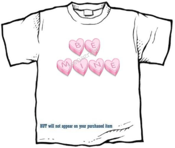 T-shirt, Your Name in CANDY HEARTS - (Adult 3 xLg)