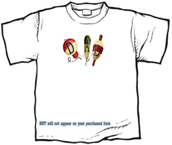 T-shirt - FISHING BOBBERS, DAD, - (Adult 3 xLg)