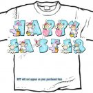 T-shirt, Your Name in BUNNY KIDS, eggs, easter - (Adult 4xLg - 5xLg)