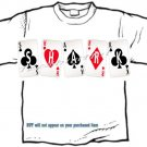 T-shirt, Your Name IN PLAYING CARDS, card shark, - (youth & Adult Sm - xLg)